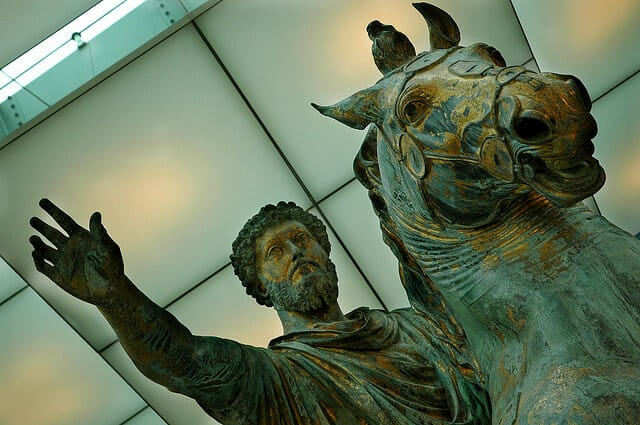 Famous Places in Rome - statue of Marcus Aurelius