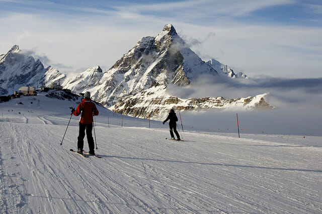 Skiing in the Italian Alps