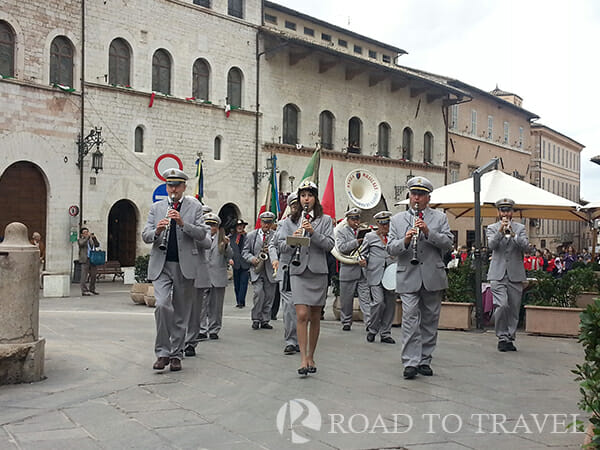 Rivotorto di Assisi Band The Rivotorto di Assisi Band during the parade of November 4