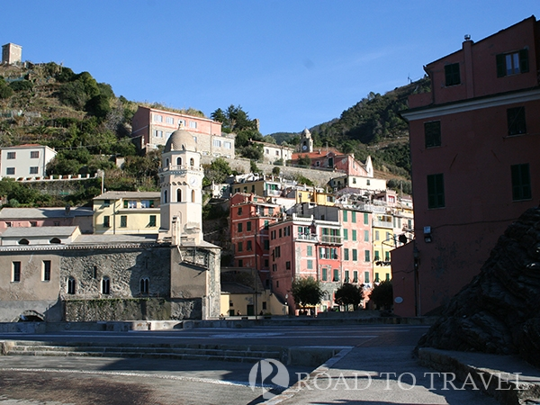 Vernazza Panoramic view of Vernazza from the ferry