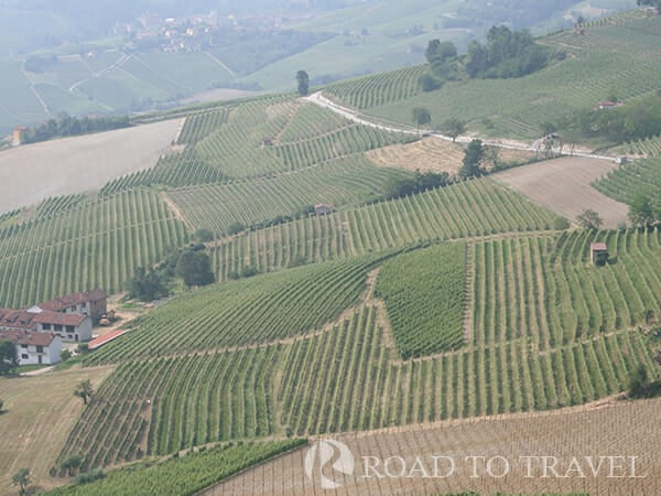 Langhe landscape Typical landscape of the Langhe area. From its wineyards come the famous Piedmont wines as Barolo, Barbera, Nebbiolo and Dolcetto.