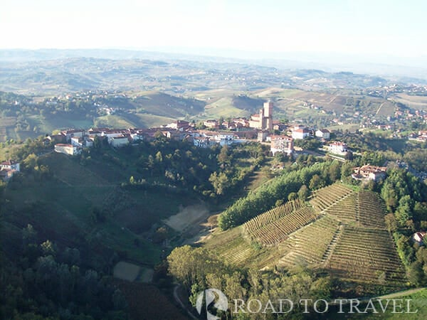 Langhe Piedmont View of the Langhe region during a ballon ride.