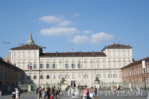 Royal Palace of Turin View of the facade of the Royal Palace of Turin.<br/>  Located in the heart of the city, it is the main residence of the Royal House of Savoy. With the other Savoy <br/>residences: the Venaria Reale and the Palazzina Stupinigi, it is part of the Unesco World Heritage site list.